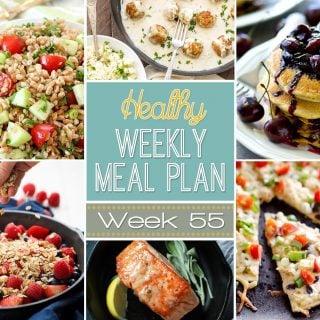 Healthy Weekly Meal Plan #55