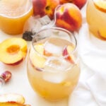 Peach Green Tea Vodka Spritzer   Light, refreshing and perfect for those summer peaches! There's nothing artificial or overly sweet about this cocktail!