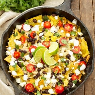 Skillet Green Chile Chicken Chilaquiles