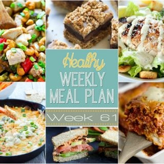Healthy Weekly Meal Plan #61