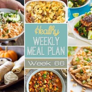 Healthy Weekly Meal Plan #66