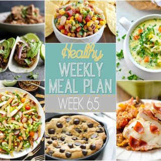 Healthy Weekly Meal Plan #65