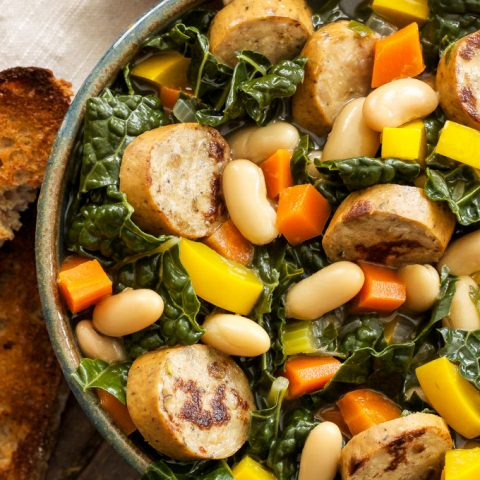 Sausage, Kale and White Bean Soup