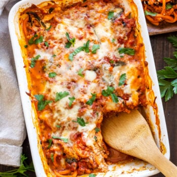 """Sweet Potato """"Pasta"""" Bake 