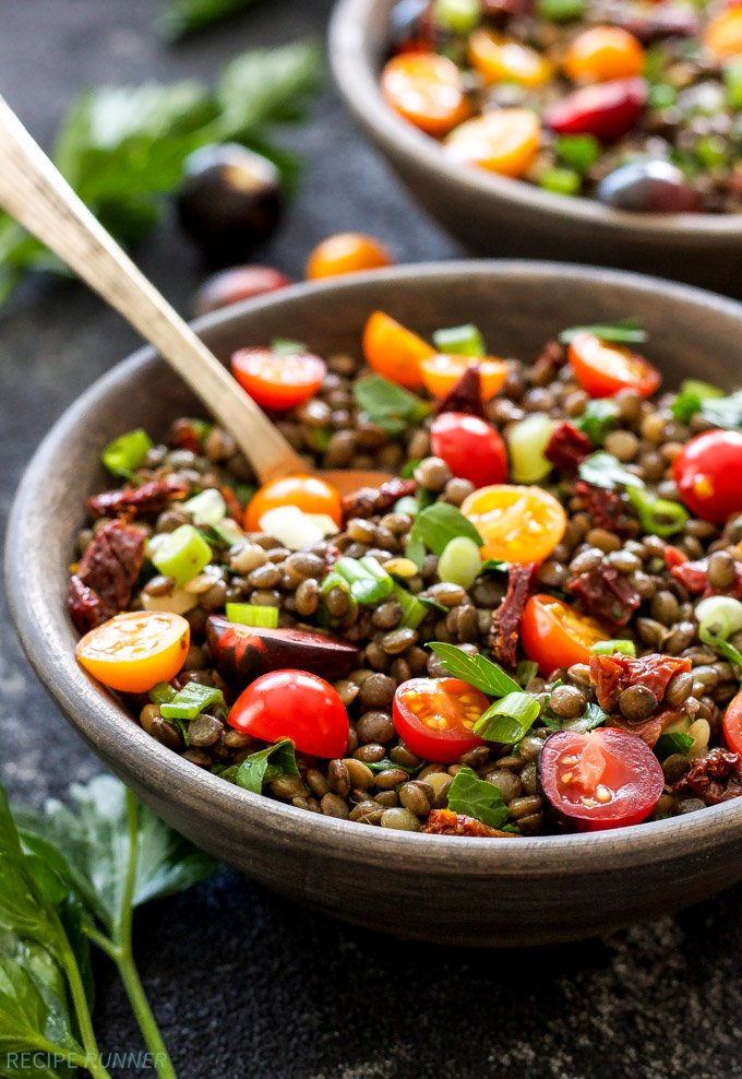 The Best Marinated Lentils | A protein-heavy, quick and delicious side dish that will satisfy both plant-based and meat eaters!