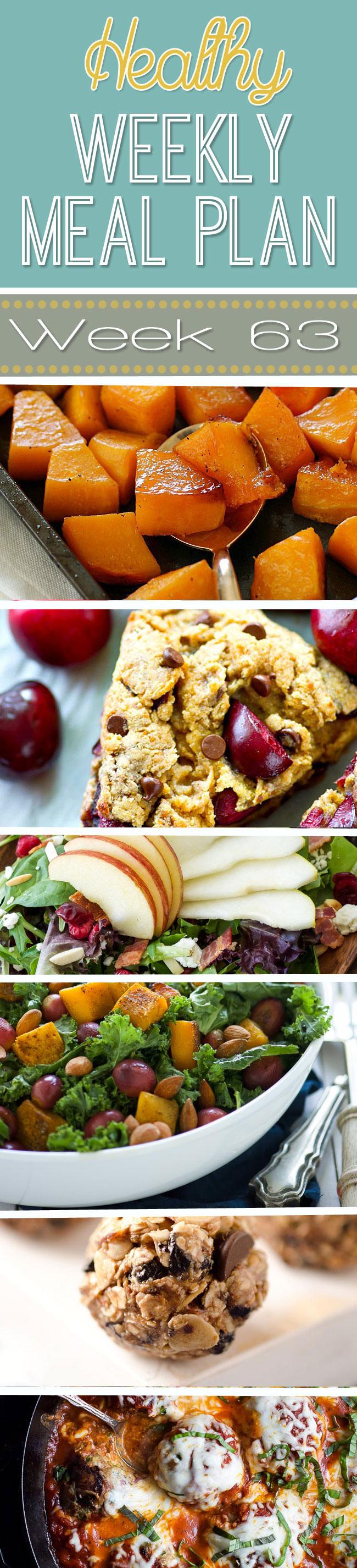 Healthy Weekly Meal Plan #63