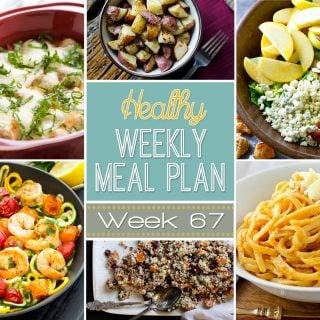 Healthy Weekly Meal Plan #67