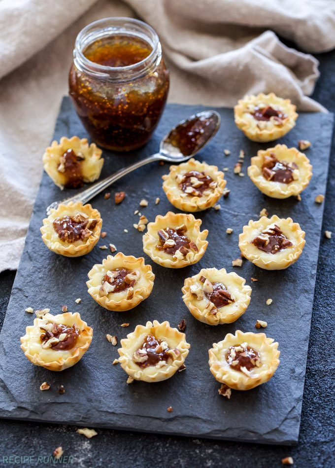 One of the easiest and tastiest appetizers I've made are these Baked Brie and Fig Jam Bites. Only 4 ingredients and 10 minutes to make this stress free sweet and savory bite!