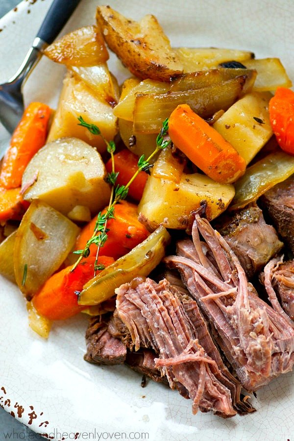 Balsamic Pot Roast with Caramelized Onions and Potatoes