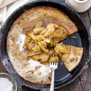 Gingerbread Dutch Baby with Cider Apples