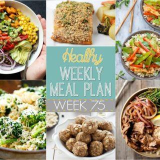 Healthy Weekly Meal Plan #75