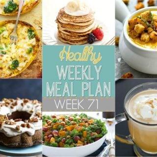 Healthy Weekly Meal Plan #71