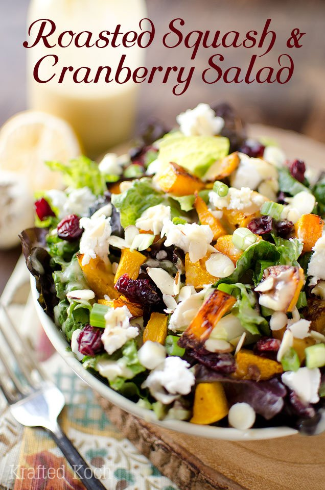 Roasted Squash and Cranberry Salad