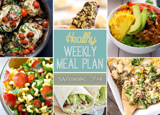 Healthy Weekly Meal Plan #74