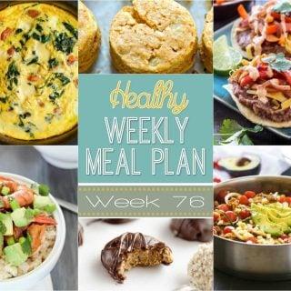 Healthy Weekly Meal Plan #76