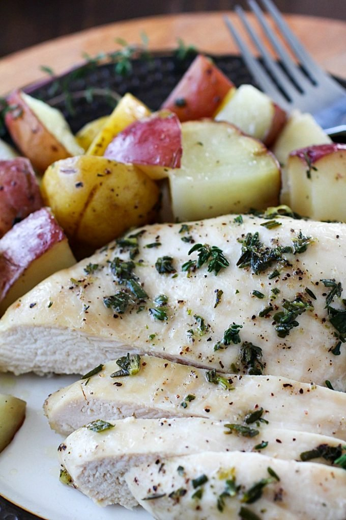 One Pan Herb Baked Chicken and Potatoes