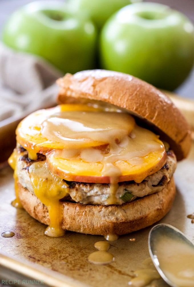 Apple Cheddar Turkey Burgers - Recipe Runner