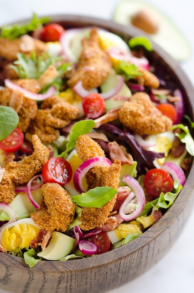 Crispy Chicken Avocado Cobb Salad