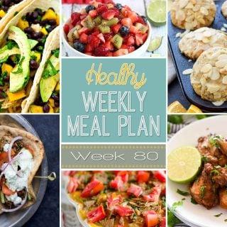 Healthy Weekly Meal Plan #80