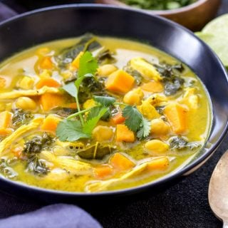 Turmeric, Chicken, Chickpea and Vegetable Soup