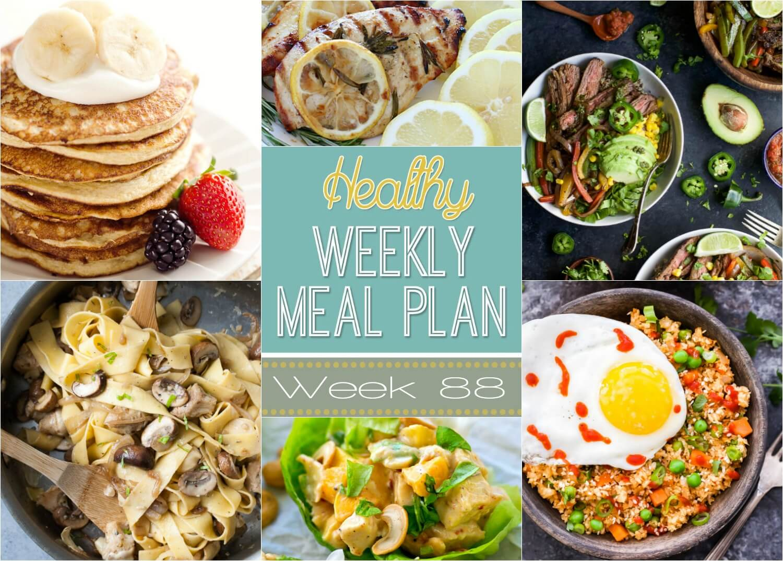 Healthy Weekly Meal Plan #88