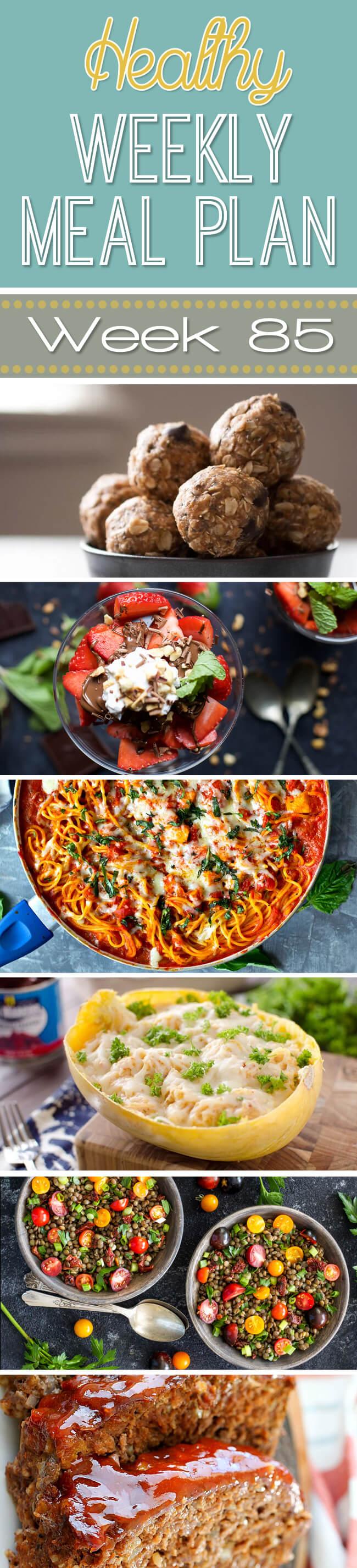 Healthy Weekly Meal Plan #85