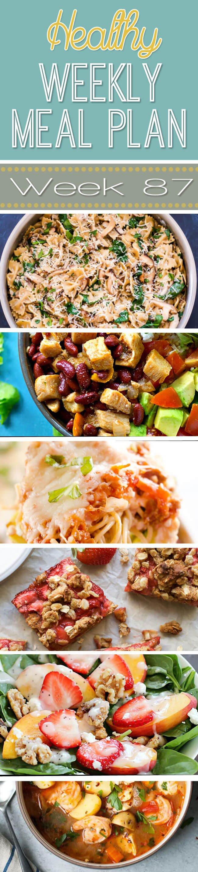 Healthy Weekly Meal Plan #87