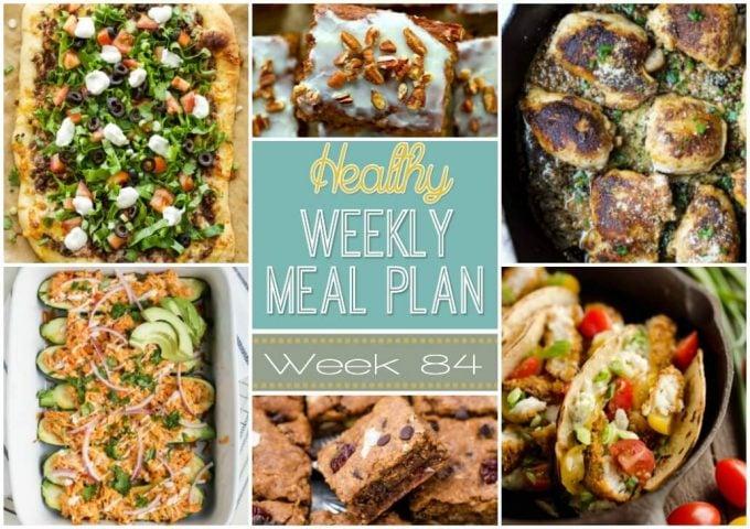 Healthy Weekly Meal Plan #84