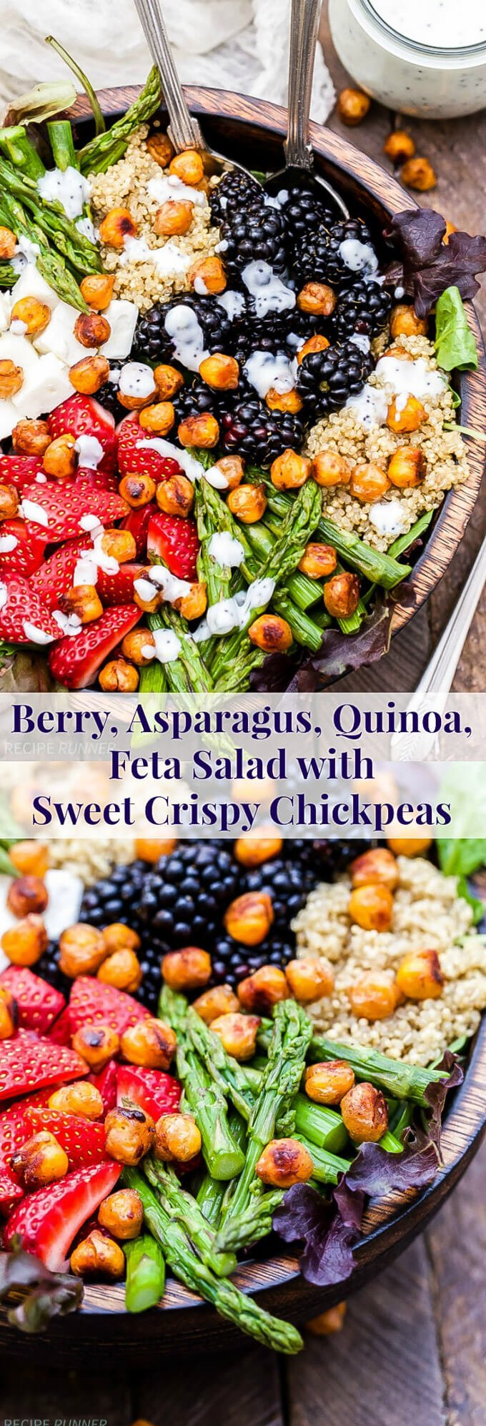 Berry, Asparagus, Quinoa and Feta Salad with Sweet Crispy ...