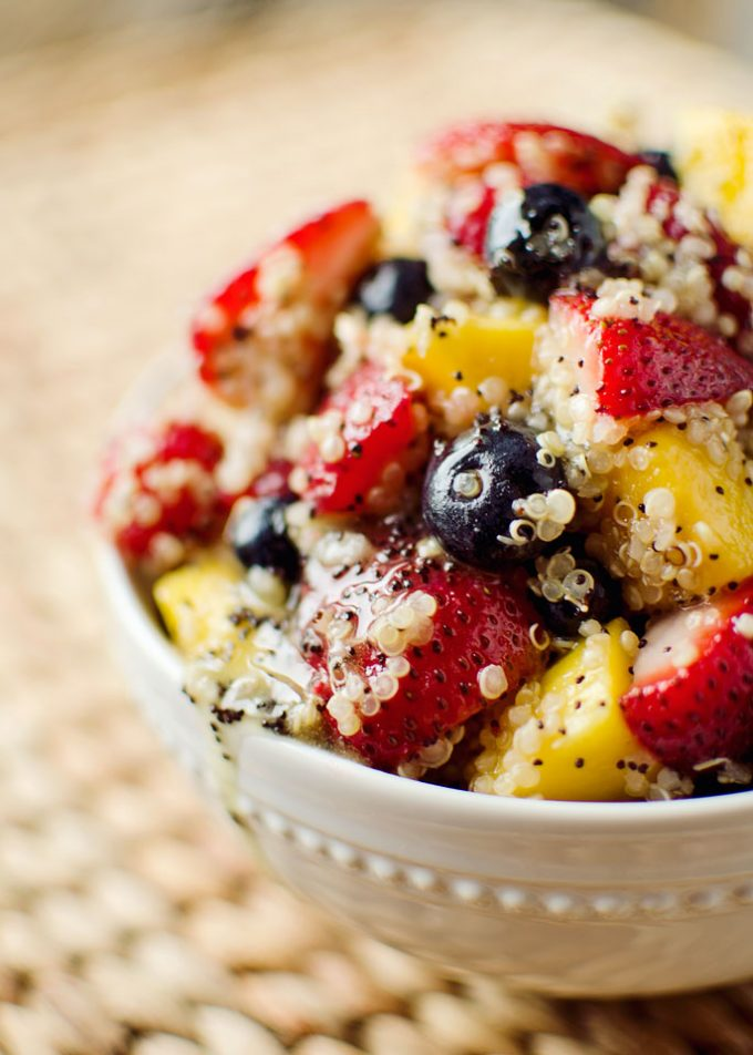 Fruit and Quinoa Salad with Citrus Poppy Seed Dressing