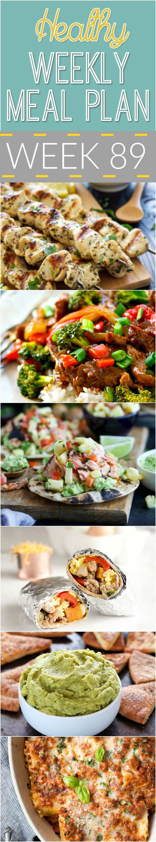 Healthy Weekly Meal Plan #89