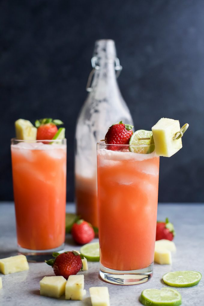 Pineapple Strawberry Agua Fresca