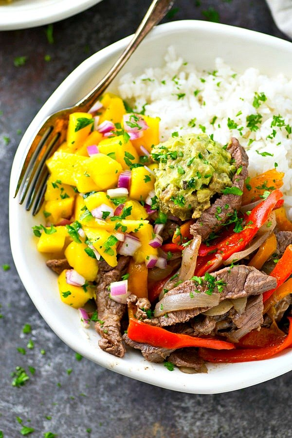 Steak and Peppers Rice Bowls