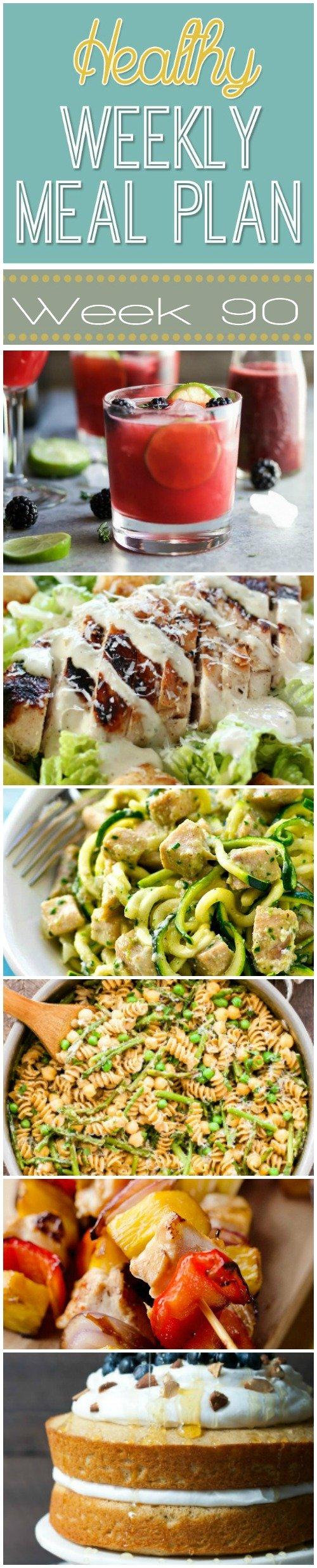 Healthy Weekly Meal Plan #90