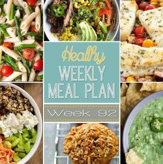 Healthy Weekly Meal Plan #92