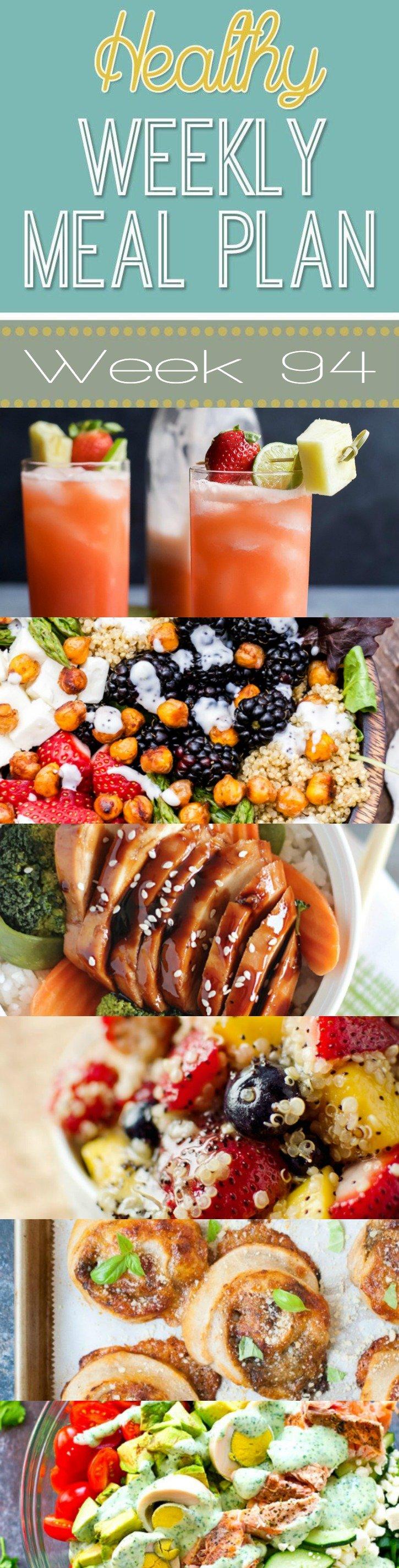 Healthy Weekly Meal Plan #94