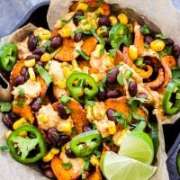 Loaded Southwest Sweet Potato Nachos
