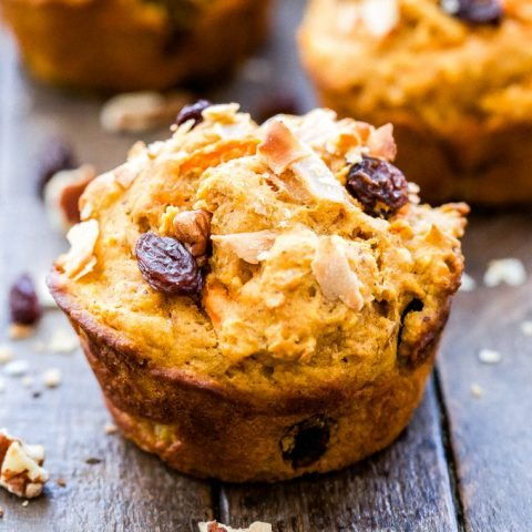 Morning Glory Sweet Potato Almond Butter Muffins