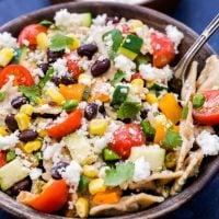 Creamy Southwest Vegetarian Pasta Salad