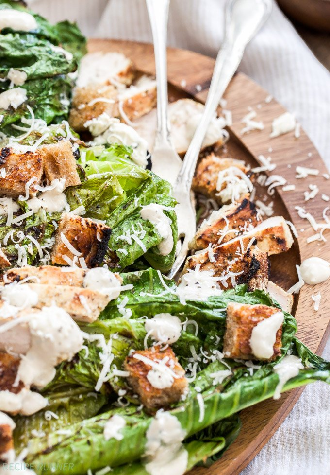 Grilled Hearts Of Romaine Caesar Salad
