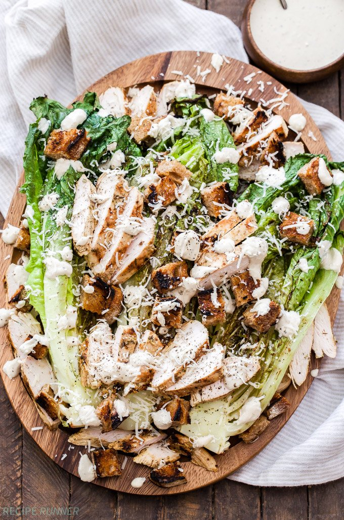 Grilled Chicken Caesar Salad Recipe Runner