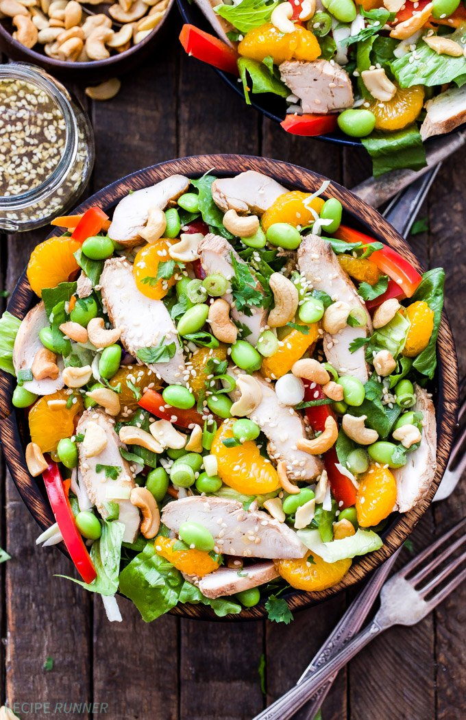 Asian Sesame Chicken And Cashew Salad Recipe Runner