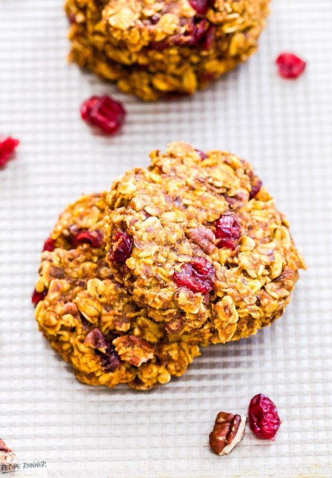 Pumpkin Cranberry Pecan Breakfast Cookies - Recipe Runner