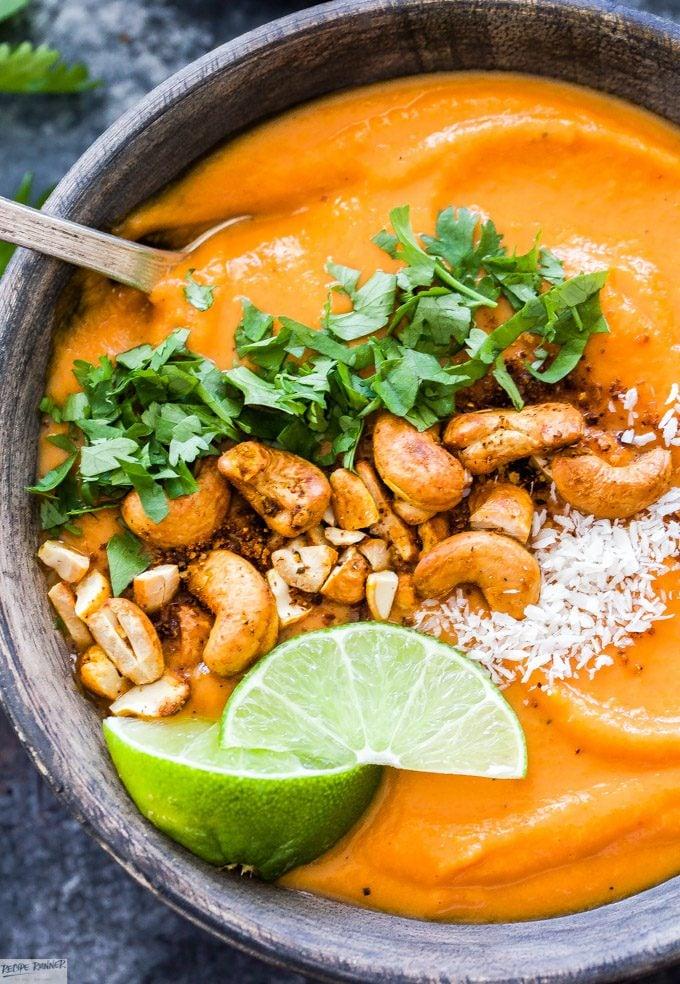 Thai Sweet Potato Carrot Soup Recipe Runner