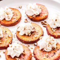 Brûléed Sweet Potato Bites with Bourbon Maple Whipped Cream