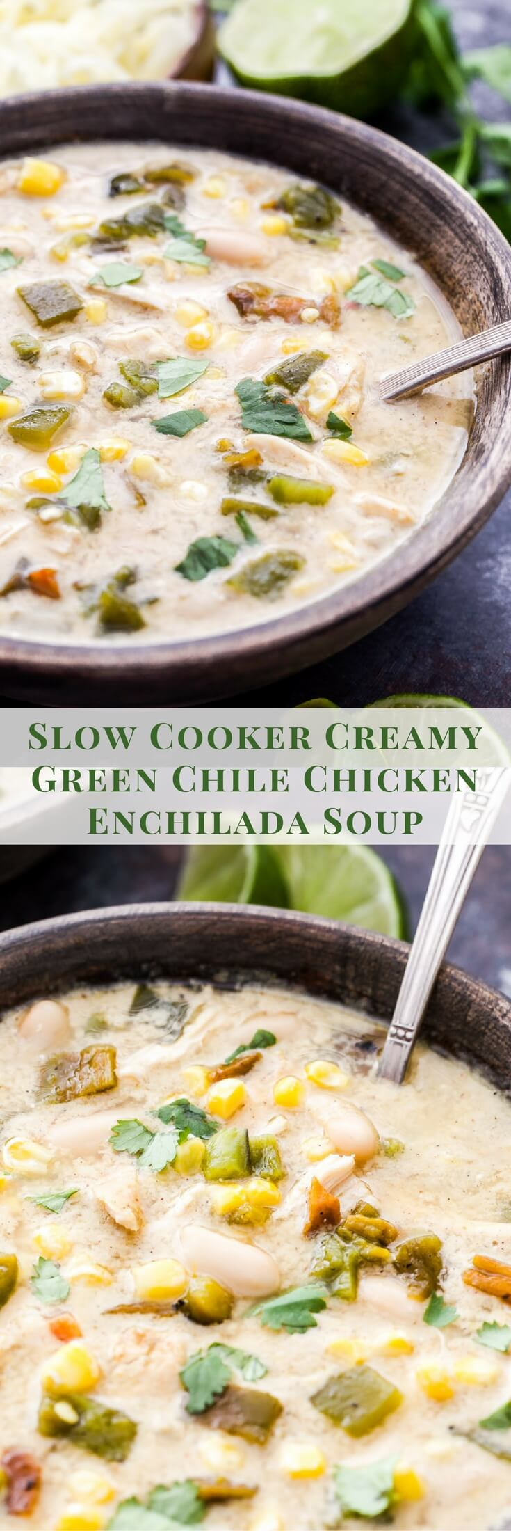 Slow Cooker Creamy Green Chile Chicken Enchilada Soup ...