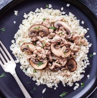 Ground Turkey and Mushroom Stroganoff