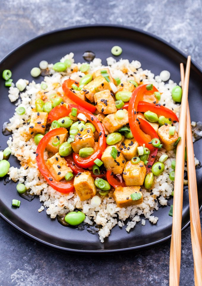 Orange Tofu And Edamame Stir Fry Recipe Runner