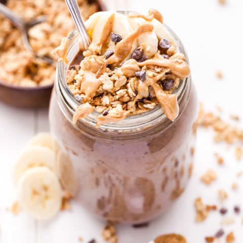 Chocolate Peanut Butter Espresso Smoothie Parfait