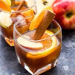 Apple Cider Old Fashioned is a classic cocktail with a delicious fall twist! A simple fall cocktail for the whiskey lover. #oldfashioned #cocktail #drink #applecider #fallrecipe #whiskey #bourbon